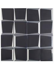 MOZAIKA SQUARE BLACK 3D 29,8x29,8